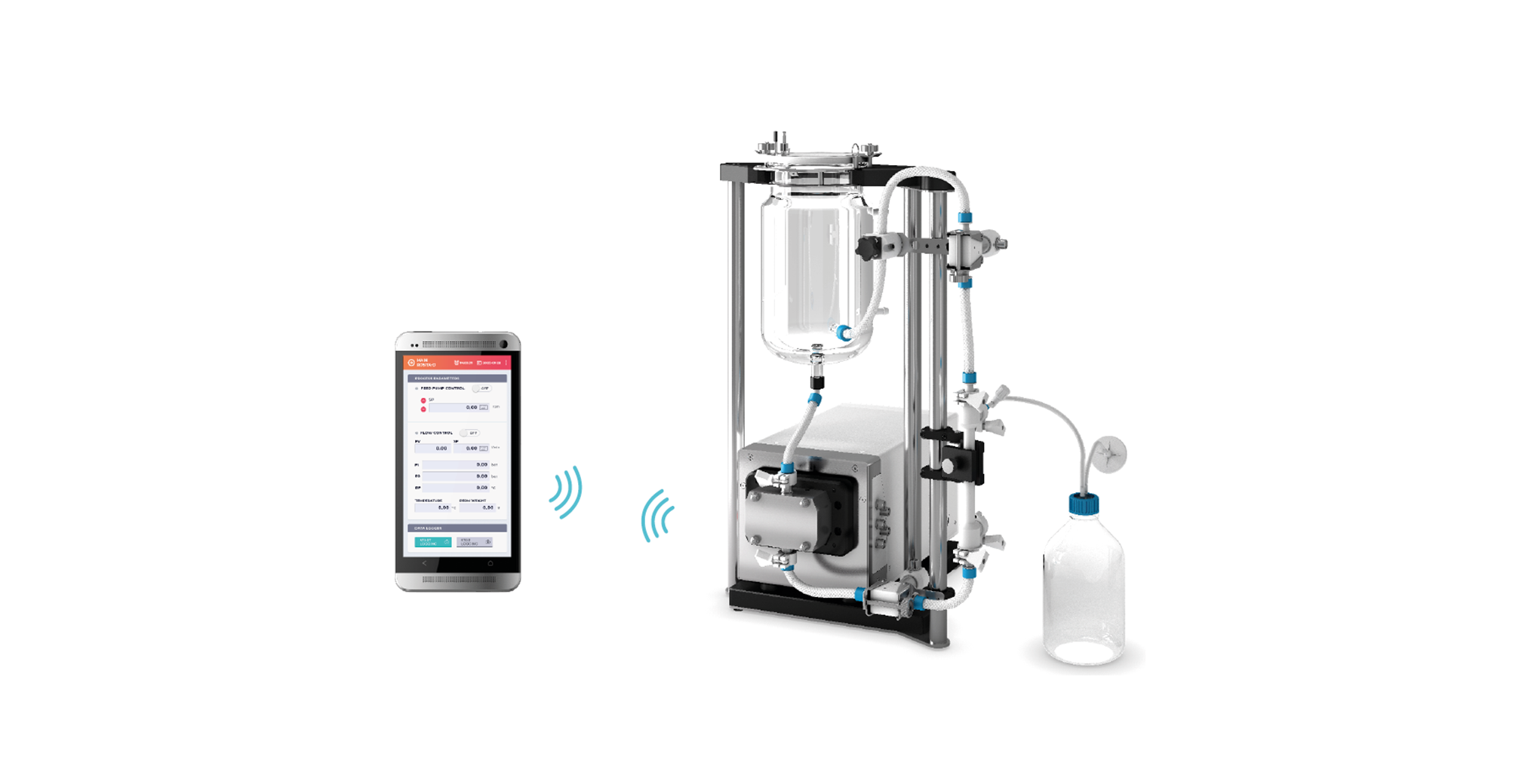 M1 Benchtop Tangential Flow Filtration system